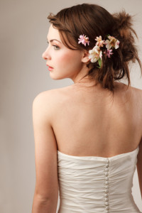 Wedding dress conceal scars on back